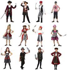 Child Pirate Costume Buccaneer Deckhand Girls Boys Book Week Day Fancy Dress Kid