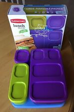 New BPA FREE Rubbermaid Lunch Blox Kids Container Kit with Blue Ice Purple