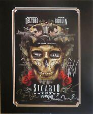 Sicario 2 Photo Poster Autographed By Benecio Del Toro Matt Modine + 4