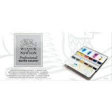 Winsor & Newton Artists Professional Quality Watercolour 12 Whole Pan Metal Box