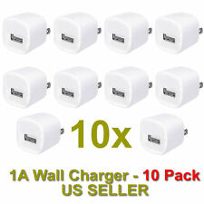 10x 1A USB Wall Charger USB AC Power Adapter US Outlet FOR iPhone 4 5 6 Samsung