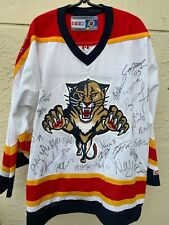 FLORIDA PANTHERS TEAM JERSEY SIGNED BY 35 PLAYERS