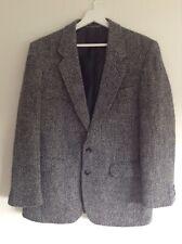 "Mens Vintage Greenwoods Castle Island Irish Tweed Jacket Black White Chest 38"""