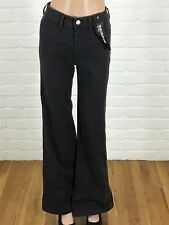 Express women's jeans denim wide leg flare high rise size 2
