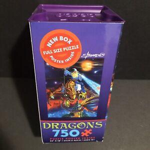 "Ceaco Dragons 750 piece jigsaw puzzle 24"" x 18"" NEW"