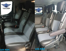 FORD TRANSIT TOURNEO CUSTOM 2018 2019 ARTIFICIAL LEATHER TAILORED SEAT COVERS