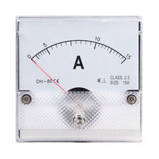 1PC Square Analog Panel AMP Current Meter AC 0-15A Ammeter Gauge DH-80 80*80