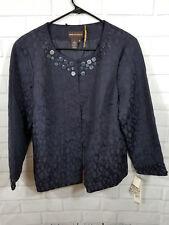Dana Buchman Size 16 Navy Blue Casual Caree rWomens Jacket Suit Blazer.