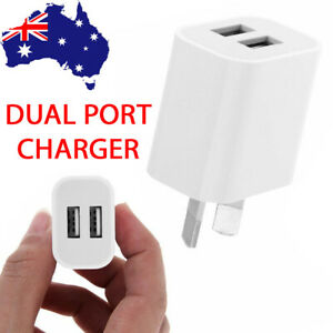 DUAL USB Wall Charger Adapter AU Plug For iPhone Samsung 5V 2A OEM AC