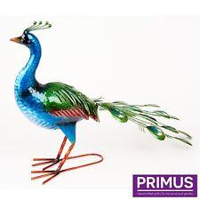 Primus grande vibrante Paon superbe décoration de jardin sculpture idée cadeau PQ3010