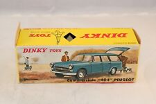 "Dinky Toys 525 Peugeot ""404"" empty original excellent plus complete box with tag"
