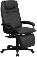High Back Black Leather Executive Reclining Swivel Chair Home Office Task Seat