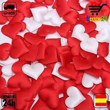 100 Corazones BLANCO de tela boda amor sorpresa corazon cumpleaños confeti *Enví