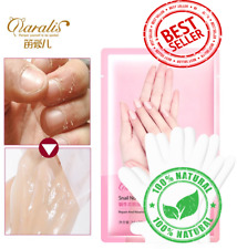 5PAIR=10PCS Snail Moisturizing Hand Mask Soft Smoothing Whitening Gloves skin