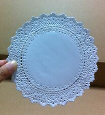 """LOT 5.5"""" INCH/250 PCS. PAPER LACE DOILIES WHITE ROUND CRAFT WEDDING AND PARTY"""