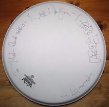 13.25 inch Remo drum head hand signed to Mel by Nick Mason of Pink Floyd
