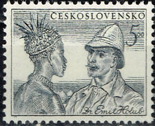 Czech Ethnicities African Tribal Man Ethnographer Emil Holub 1951 stamp MNH
