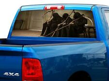 P461 Grim Reaper Rear Window Tint Graphic Decal Wrap Back Truck Tailgate