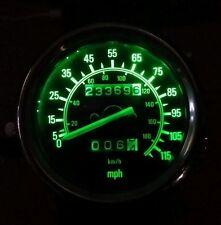 GREEN YAMAHA VIRAGO 535  led dash clock conversion kit lightenUPgrade