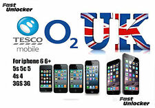 O2 Tesco UK UFFICIALE FACTORY codice di sblocco per Apple iPhone 6 6 + PLUS 5S 5C 5 4S 4