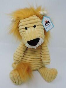 "Jellycat Cordy Roy Lion Plush 15"" Tan Soft Toy Stuffed Animal Tags"