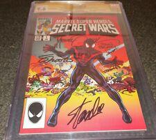 Secret Wars #1 CGC 9.6 Signature Series  signatures +Stan Lee+ HeroesCon Edition