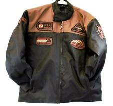 motorcycle kids jacket brown/black Usa mode motor usa classics size 12