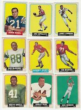 1964 Topps Football Card Lot of 13 with John Hadl Rookie