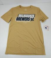 Milwaukee Brewers Youth T-Shirt Size Medium & XL Gold Polyester Short Sleeve New
