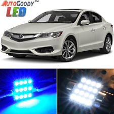 8 x Premium Blue LED Lights Interior Package Kit for Acura ILX 2013-2015 + Tool