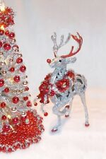 """NEW 1:12 7""""LIGHTED DOLLHOUSE MINIATURE CHRISTMAS REIN-DEER +ORNAMENTS NO-TREE"""