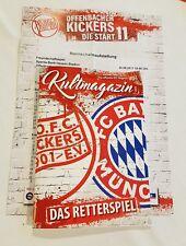 Stadionzeitung Programm Kickers Offenbach FC Bayern München Retterspiel OFC-FCB