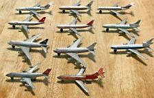 *VINTAGE* LOT OF 11 DIECAST JET AIRLINERS 727/747/767/AIRBUS DELTA/TWA/SWISSAIR