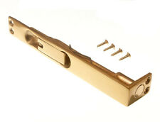 25 x SLIDING FLUSH BOLTS SOLID POLISHED BRASS DOOR CATCH 150MM 6 INCH -New