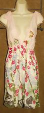 ALICE + OLIVIA - Pink - Floral Print - 100% PURE SILK - DESIGNER Dress sz S $440