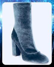 b95146c3c45ce Sam Edelman Calexa Gray Blue Velvet Ankle Sock Bootie US Size 7