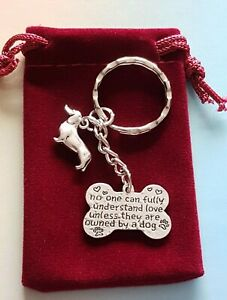Lovely Dachshund, Sausage Dog Keyring, Great Gift or Treat, in Velvet Gift Bag