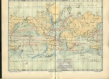 """Landkarte """"Meeresströmungen Weltkarte"""" -  Von 1895    (J-BE2)"""