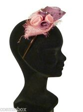 Chapeau de cérémonie femme serre tête TOUT en TETE rose & violet purple pink hat