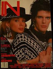 IN fashion Magazine Nov/Dec 1986 Rosanna Arquette Charlie Sexton Robert Smith