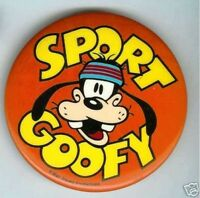 old SPORT GOOFY pin pinback button