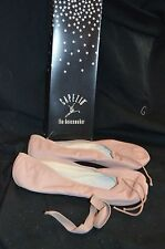 NIB Capezio Pink Teknik II 201C Leather Child's Ballet Sz 1 M Leather Bottom