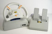 Sega Dreamcast Dream Wheel Racing Wheel con pedales madcatz OVP con instrucciones
