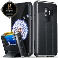 Samsung Galaxy S9+ Plus【vCommute】Leather Flip Wallet Stand Card Phone Case Cover
