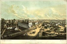 Poster, Many Sizes; Map Of Oshkosh, Wisconsin 1850