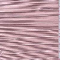 Champagne Pink Pleated Charmeuse, Fabric By The Yard