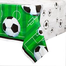 Football Plastic Tablecloth, 7ft x 4.5ft