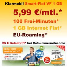 Vertrag ohne Handy, Sim Only Handyvertrag Sim Karte Tarif 5,99 D2 Vodafone Netz