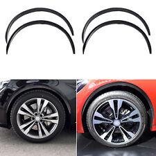 4pcs 28'' Car Fender Wheel Eyebrow Protector Black Carbon Fiber Rubber Strips