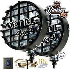 "Land rover Maxtel XL 8"" Stainless Steel 12v Driving Spot Lights Lamps 4x4 Grills"